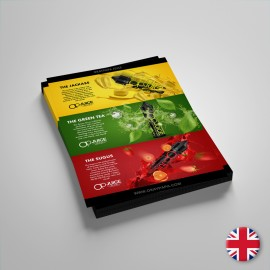 Op Juice Flyer 15x21cm - 5pcs - English language