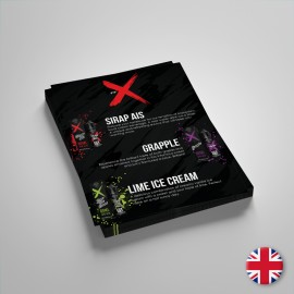 FFX Volantino Liquidi 15x21cm - 5pz - Iingua Inglese