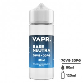VAPR. Neutral Base 70/30 - 0mg/ml - 80ml in 120ml bottle