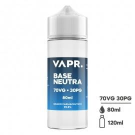 VAPR. Neutral Base 70/30 - 0mg/ml - 80ml in 120ml bottle