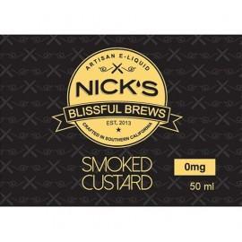 Nick's Blissful Brews Smoked Custard Mix and Vape - 50ml