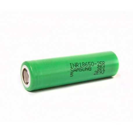 Samsung INR18650 25R 2500mAh senza pin