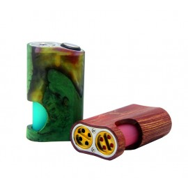 Arctic Dolphin Amber Mod - Stabilized wood - Squonk